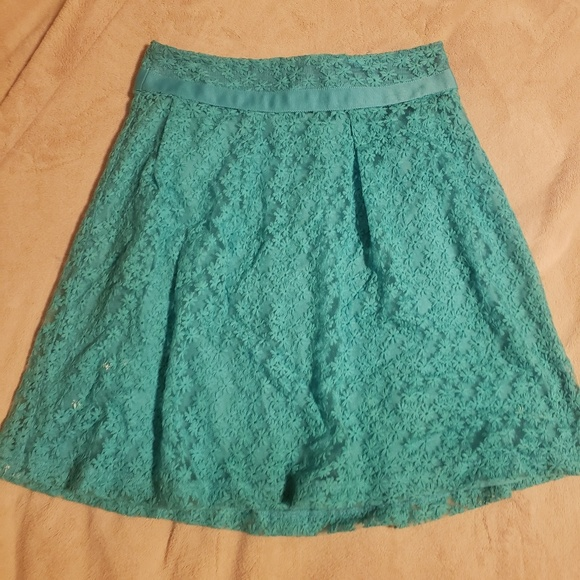The Limited Dresses & Skirts - The limited lace turquoise skirt